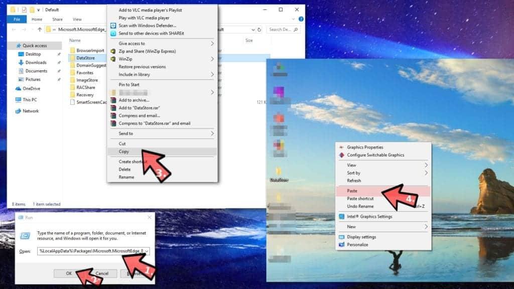 Back up Microsoft Edge favorites