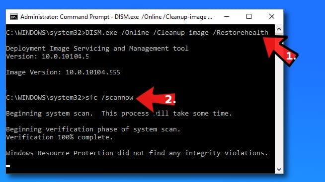Functions that help to fix corrupted Windows update files