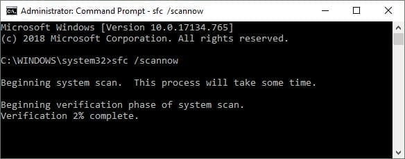 sfc scannow command in cmd can help to fix VCRUNTIME140.dll missing error