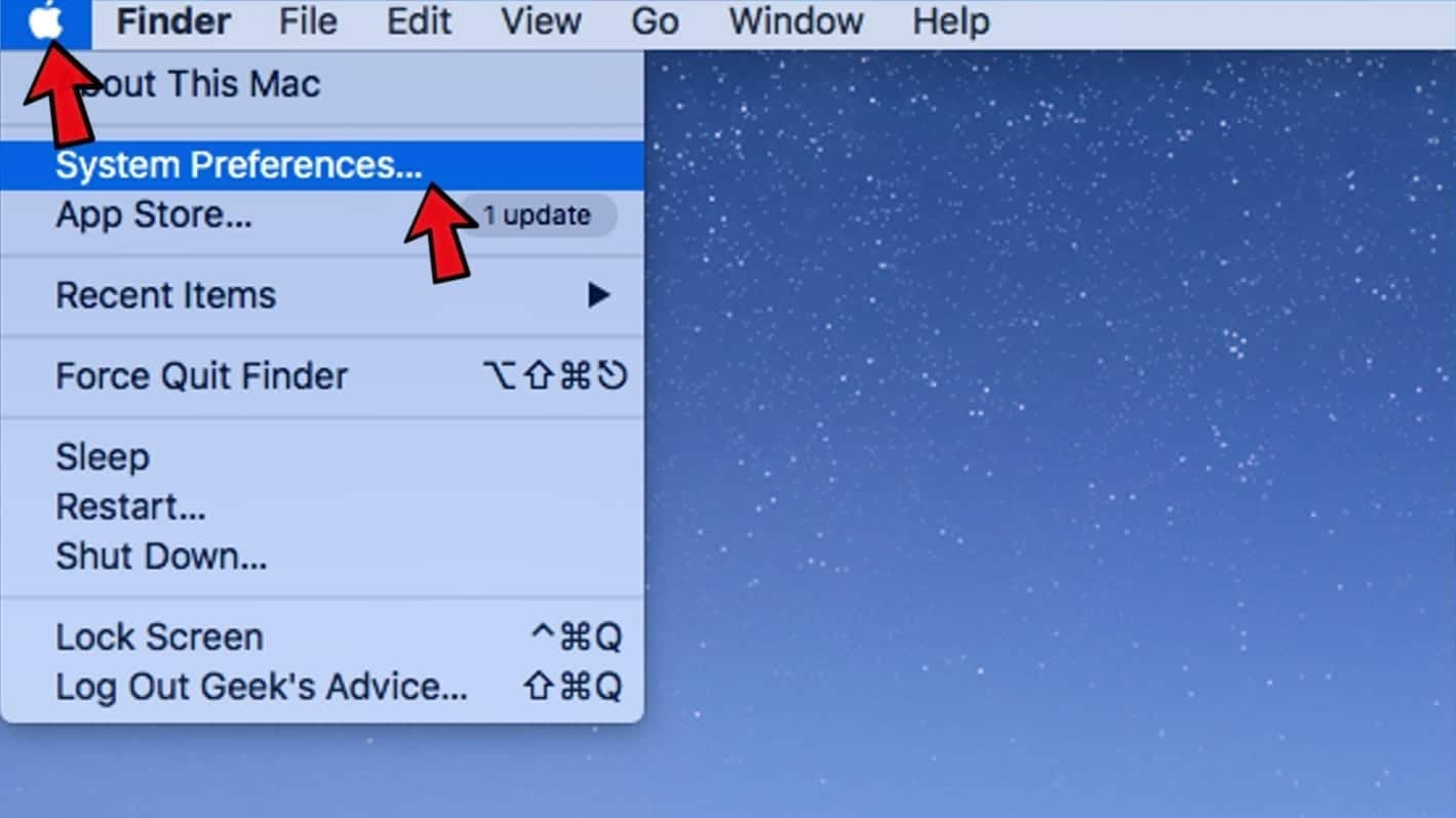 open system preferences in mac
