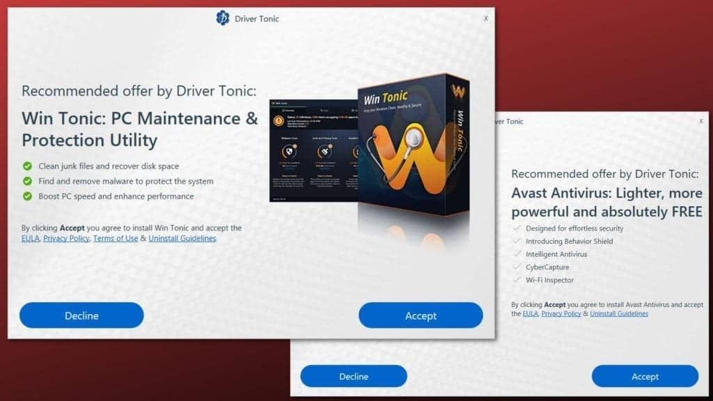 examples of driver tonic ads