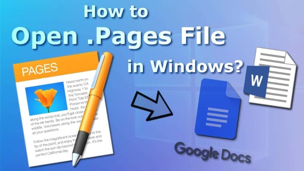 open pages file in windows easily
