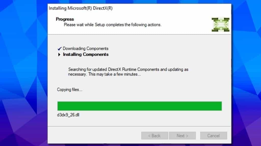 directx re-installation can fix 0xc000007b