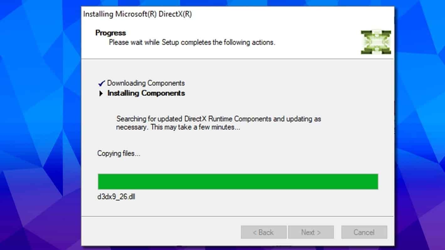 directx re-installation can fix 0xc000007b