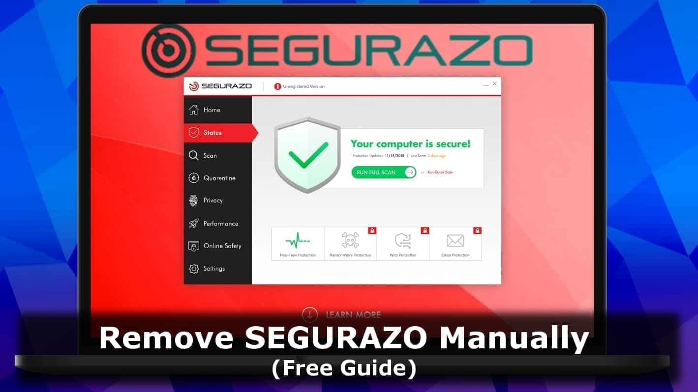 Remove Segurazo Antivirus Santivirus Removal Guide 2021 Geek S Advice