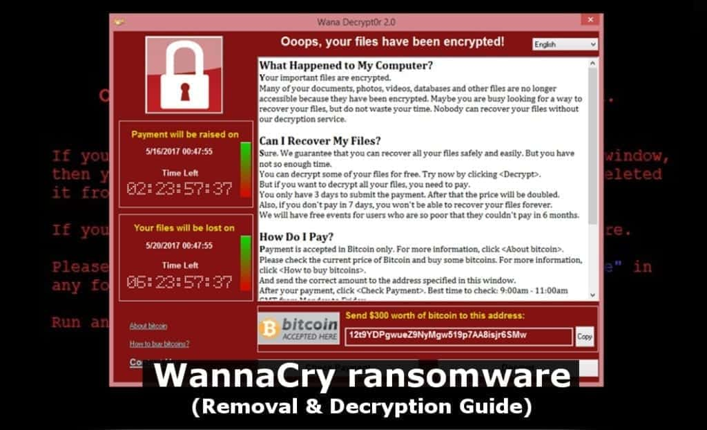 remove wannacry ransomware and decrypt your files