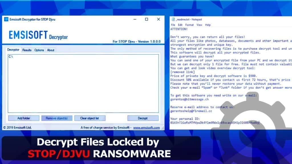 decrypt files locked by stop djvu ransomware virus