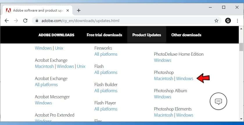 install updates for adobe products