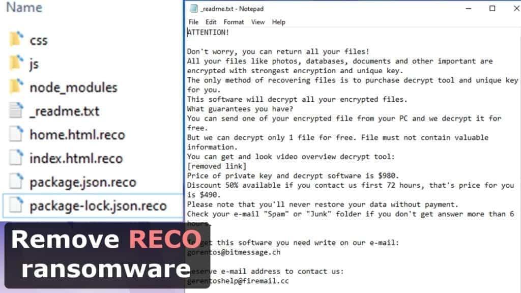 remove reco ransomware virus