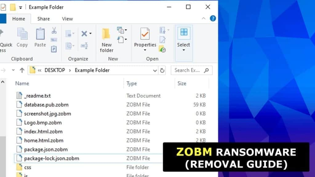 zobm ransomware virus attack leaves victims without their files