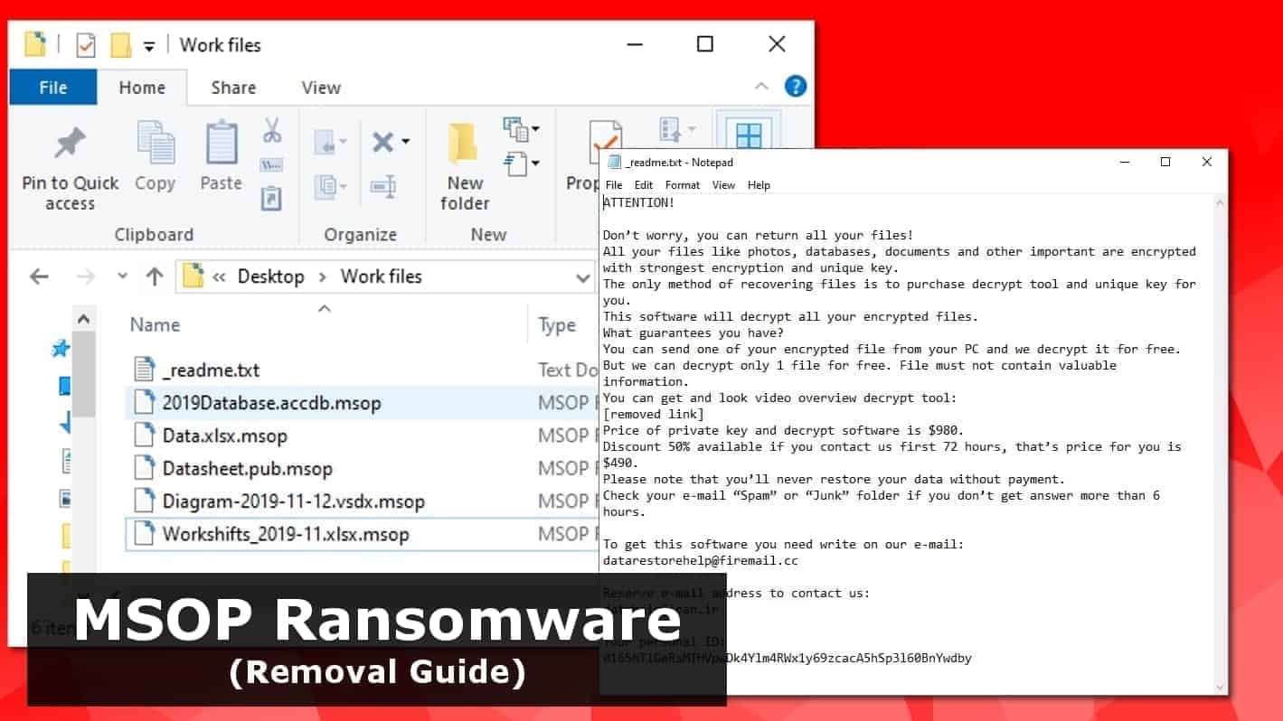 Remove Msop Ransomware Virus 2019 Guide Geek S Advice