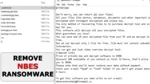 remove nbes file virus