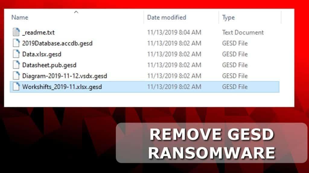 remove gesd ransomware virus