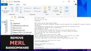 remove merl ransomware virus