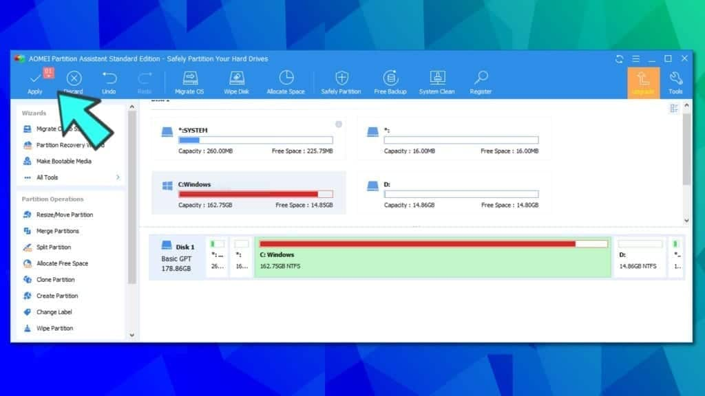 aomei partition assistant task queue