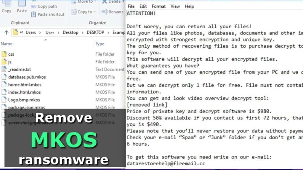 remove mkos ransomware virus as soon as possible
